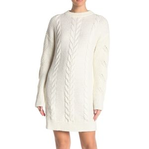 NWT: Cozy Cable Knit Sweater Dress